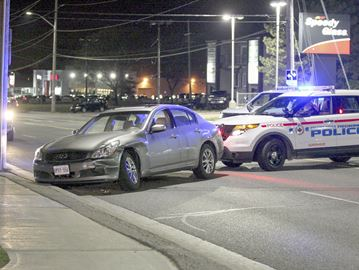 Police pursuit in Whitby